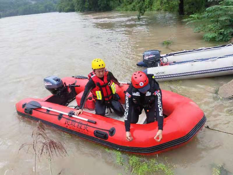 Earrow Outboard Machine Escorts for Government Rescue Team