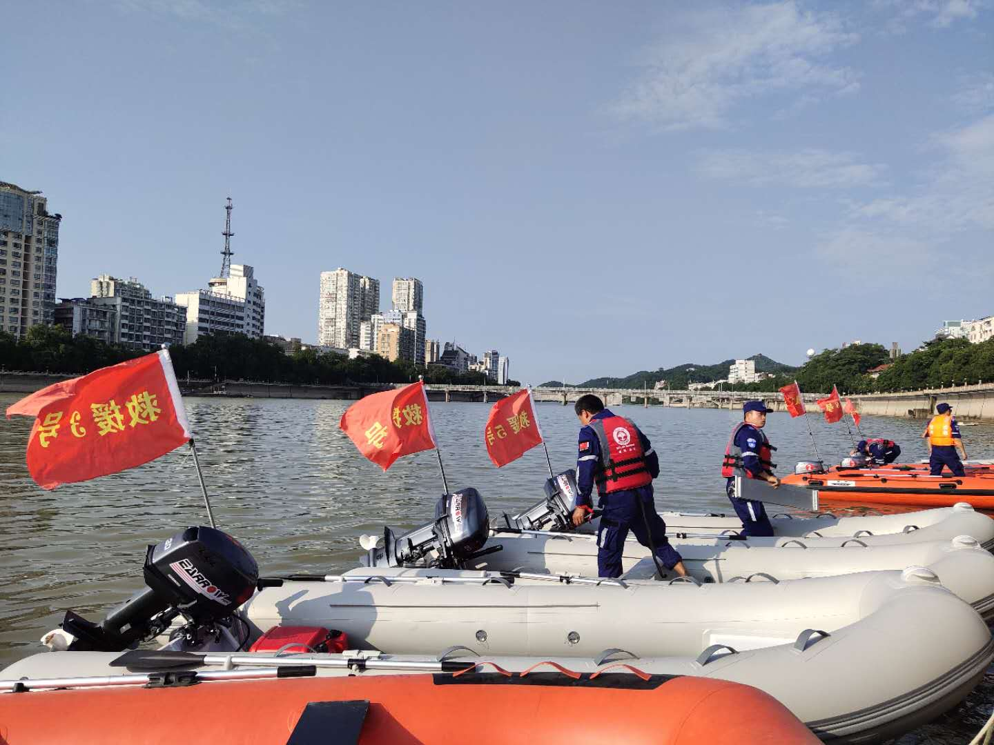 Earrow Outboard Machine Escort for the Dragon Boat Race